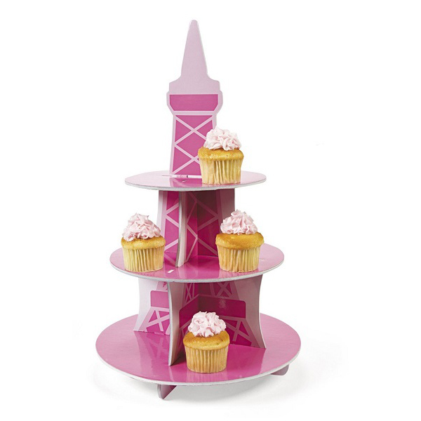 cardboard cupcake counter display stand