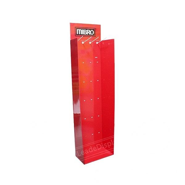 cardboard display with hooks