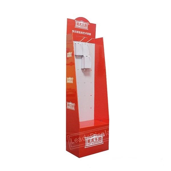 cardboard hook display shelf