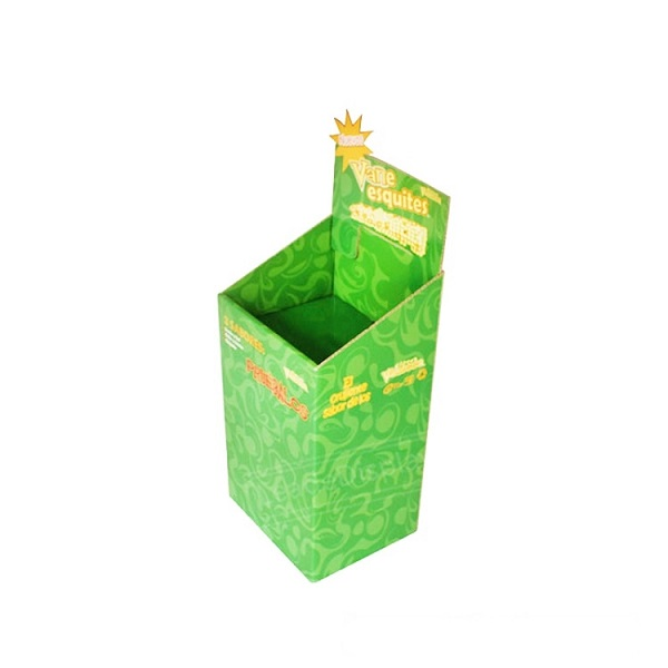 cardboard retail dump bin display