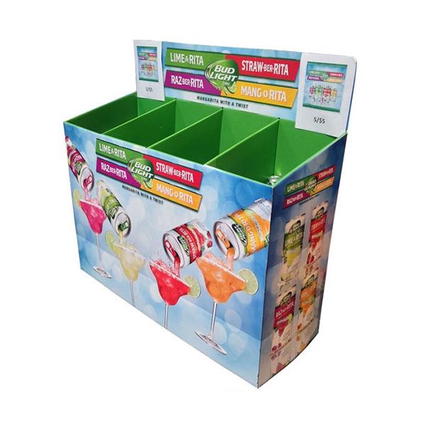 retail cardboard dump bin display
