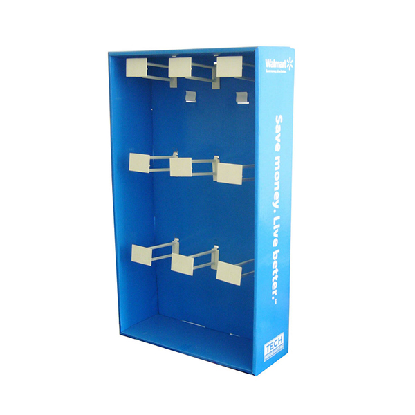 retail cardboard sidekick display for walmart