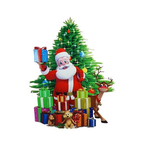 Christmas Day corrugated cardboard decorating display standee