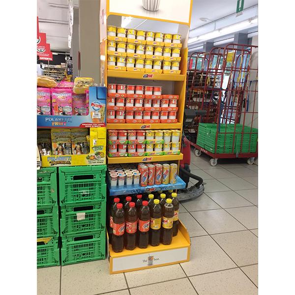 cardboard drink display for drinks promotion