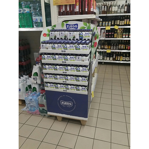 cardboard floor display for milk promotion