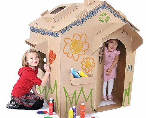 cardboard furniture children paper house