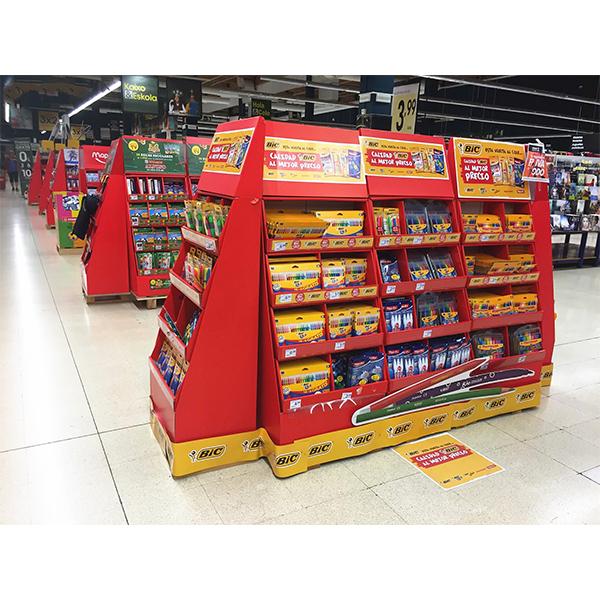 cardboard pallet display for pen stationery