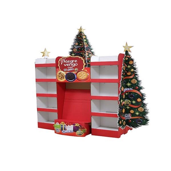 cardboard pop display for Christmas promotion