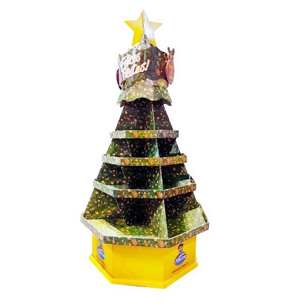 cardboard supermarket Christmas display stand