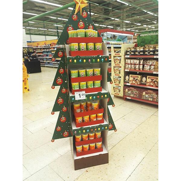 corrugated cardboard snack display stands