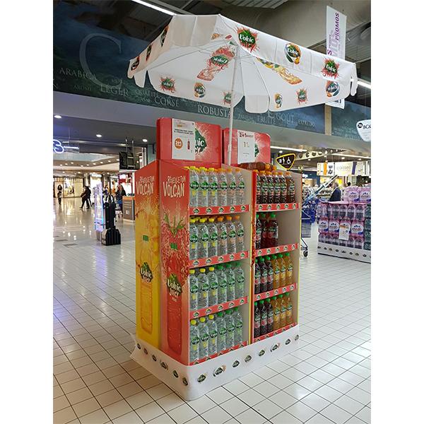 custom bottle drink cardboard display stand