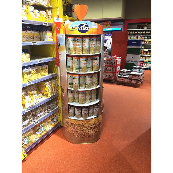 custom design cardboard snack food display for promotion