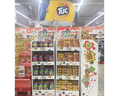 custom design food cardboard eco-friendly display stand