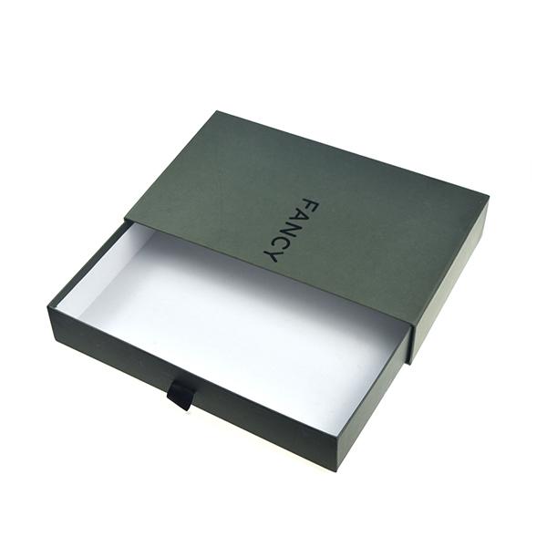 custom luxury black cardboard drawer gift box