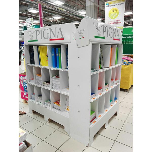 custom paper pos cardboard stationery book display
