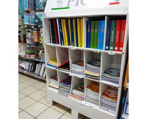 cardboard book display