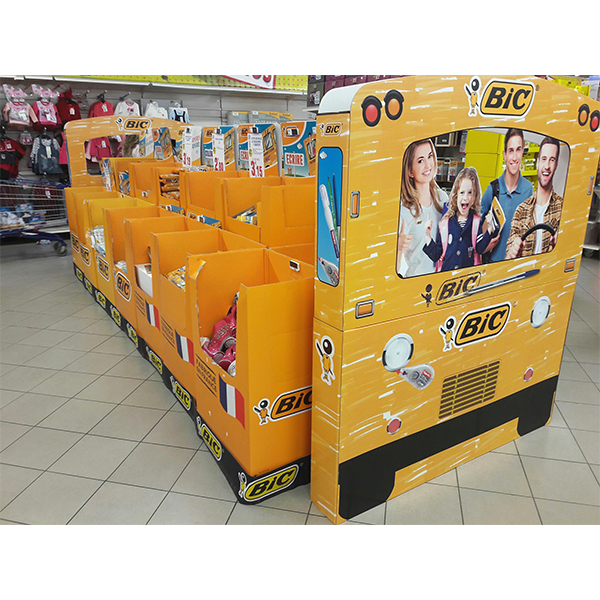 custom point of sale cardboard display for stationery
