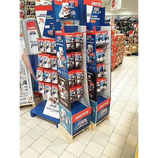 custom shop retail pen stationery pos cardboard hook display