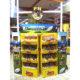custom supermarket shop food cardboard display shelf