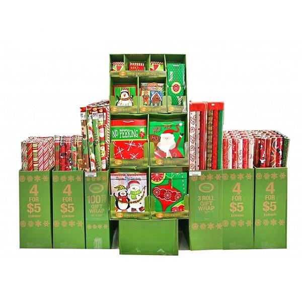 customized cardboard Christmas items pallet display