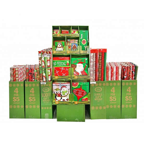 customized cardboard Christmas items pallet display