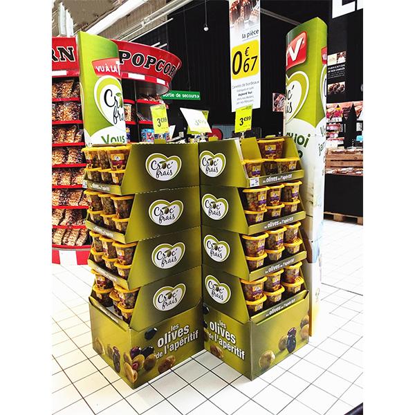 floor cardboard snack display stand