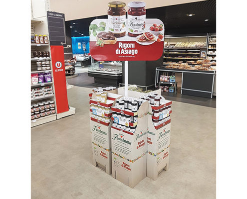 food snacks supermarket cardboard retail floor display