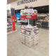 food snacks supermarket cardboard retail floor display