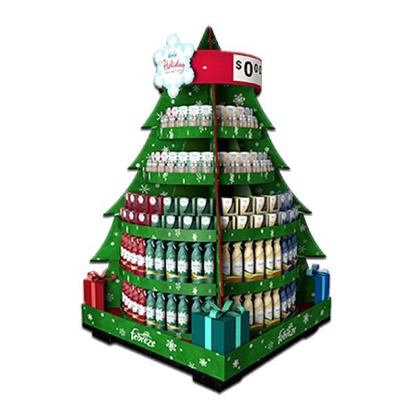 cardboard supermarket christmas