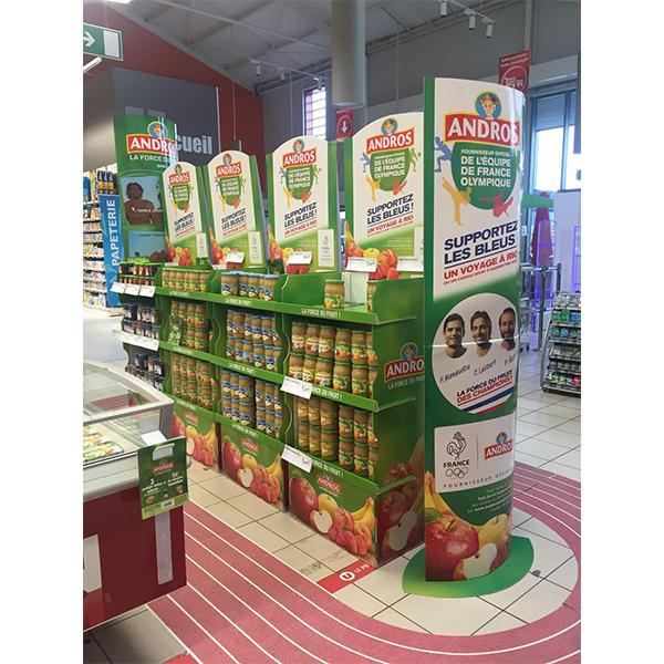 pos store retail cardboard soft drink display rack