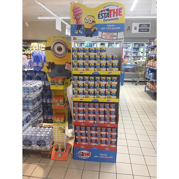 retail cardboard display pop floor display stand for drink