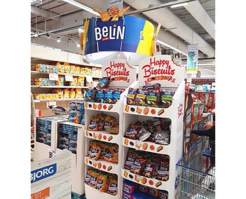 retail store food snack cardboard pop display stand