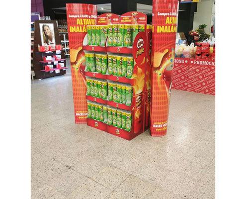 shop retail potato chips snacks cardboard floor display