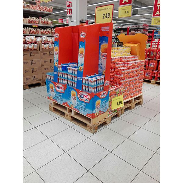 supermarket promotion drink cardboard display stands