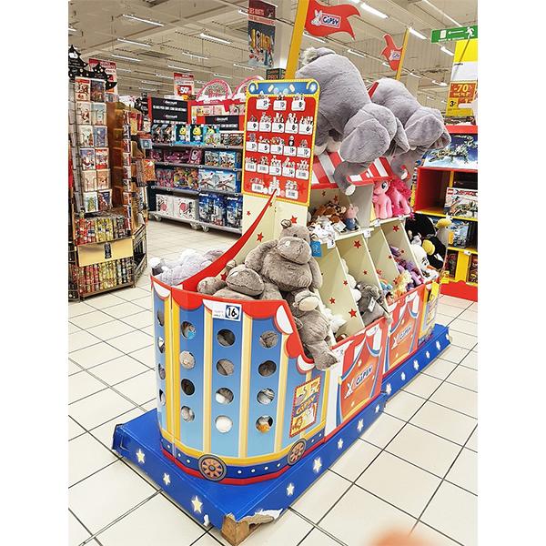 cardboard display rack for toys