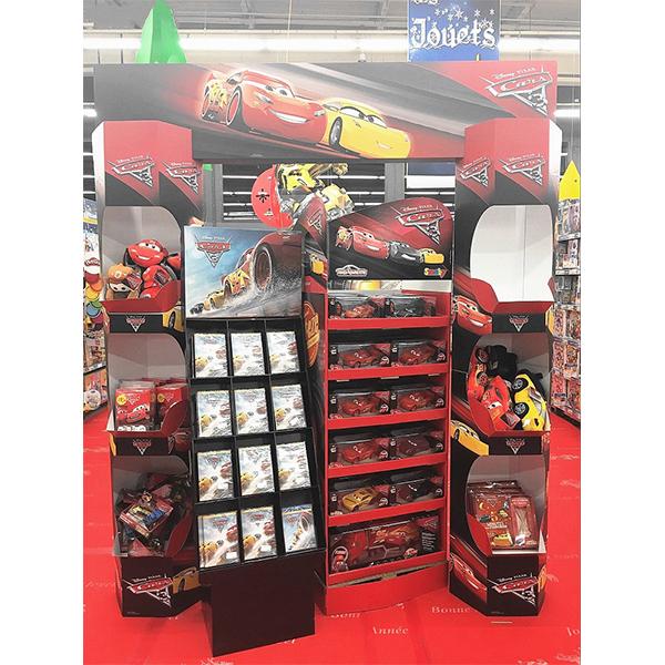 cardboard toy car display shelf
