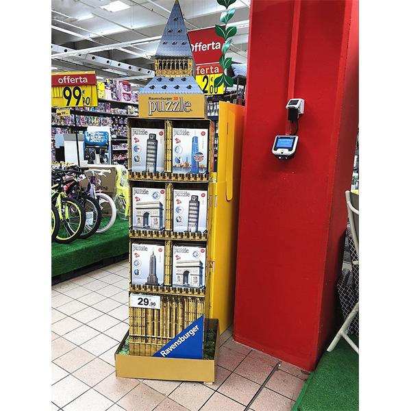 cardboard toy display stand