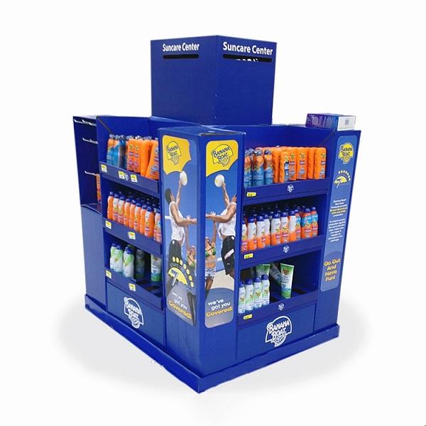 retail cosmetics cardboard pallet display