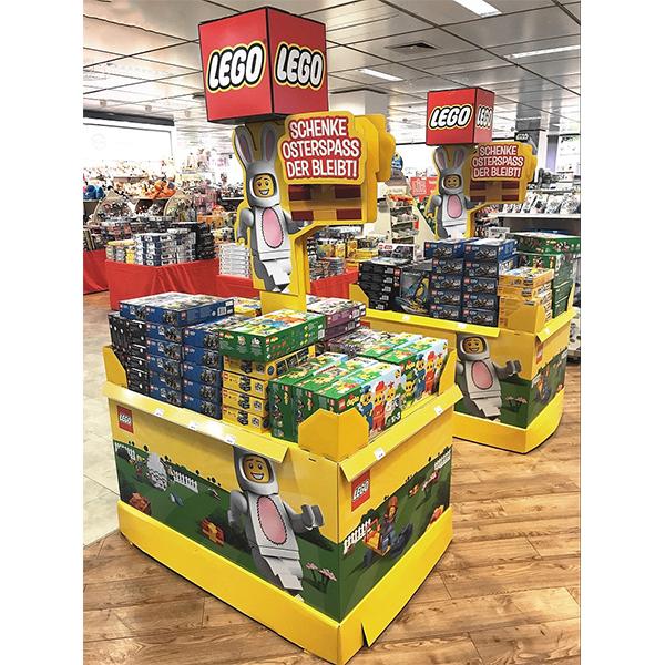 toy cardboard pallet display