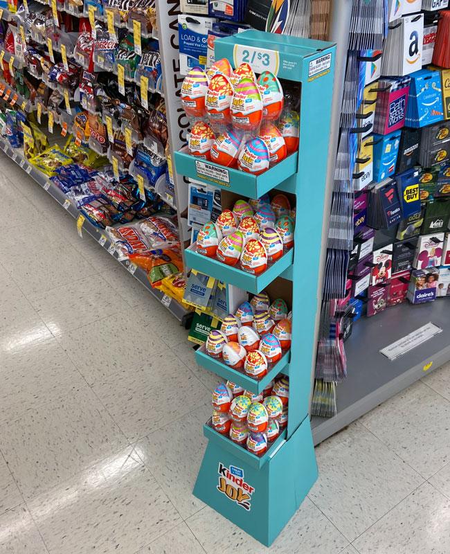 cardboard display shelves
